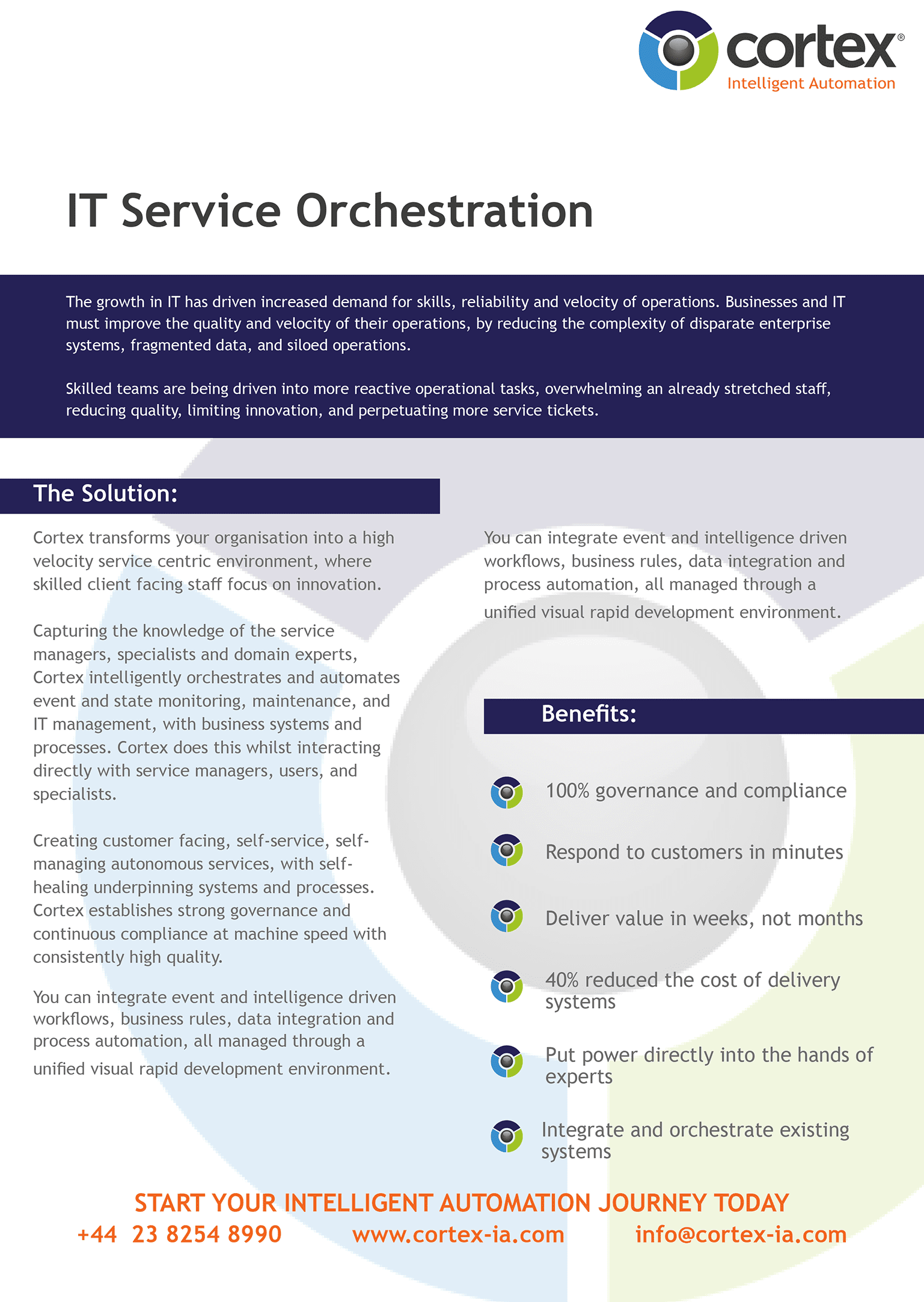 Cortex IT Service Orchestration Overview