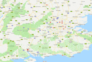 Map of Cortex to London